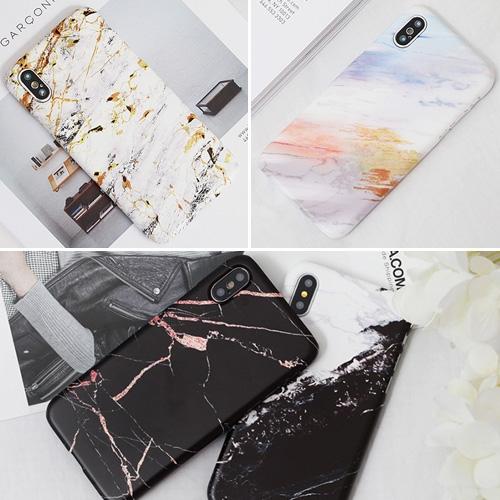 韓國 水彩大理石 硬殼 手機殼│iPhone 6 6S 7 8 Plus X XS MAX XR 11 Pro LG G7 G8 V40 V50│z8317