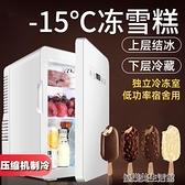 冷凍22升壓縮機迷你小冰箱宿舍用小型mini車載冰箱出租房車家兩用 YDL