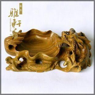 紅木工藝品*綠檀*煙灰缸*生肖*龍*禮品盒*大