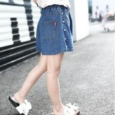 女童短褲 女童牛仔短褲童裝中大童韓版百搭寬鬆闊腿褲兒童褲子 傾城小鋪