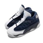 Nike Air Jordan 13 Retro TD Flint Grey 藍 白 童鞋 小童鞋 籃球鞋 喬丹 【PUMP306】 414581-404