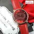 RELAX TIME Classic 經典系列 立體波紋簡約俐落女錶 真皮手錶 防水手錶 女錶 玫瑰金X紅 RT-88-9L