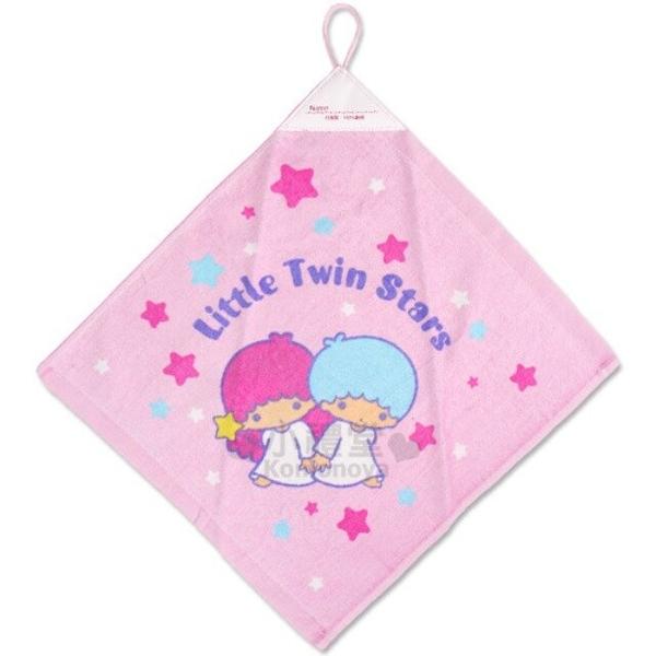 小禮堂 雙子星 純棉擦手巾 (粉星星款) 4712764-01811