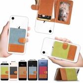 蘋果 iPhone 11 Pro Max XS MAX IX XR XS i8 Plus i7 Plus 牛仔拼接卡夾 透明軟殼 手機殼 訂製