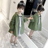 女童外套秋裝新款韓版兒童中長款風衣小女孩春秋裝時尚大衣潮 9號潮人館