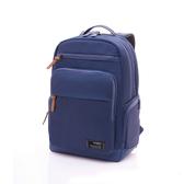 Samsonite新秀麗 Avant極輕盈耐磨簡約筆電後背包(藍)