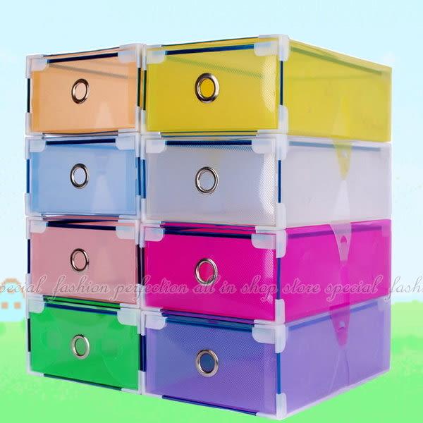 【GC140】包邊抽屜式鞋盒2入 彩色鞋盒 透明鞋盒/收納鞋盒/收納盒★EZGO商城★