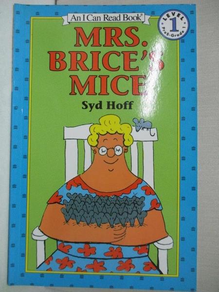 【書寶二手書T1/原文小說_BCH】Mrs. Brice's Mice_Hoff, Syd