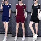 純棉夏季韓版學生寬鬆運動服時尚休閒套裝女夏裝兩件套 凱斯盾