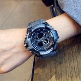 潮牌時尚潮流ulzzang手錶男女學生韓版簡約迷彩電子錶運動防水 米娜小鋪