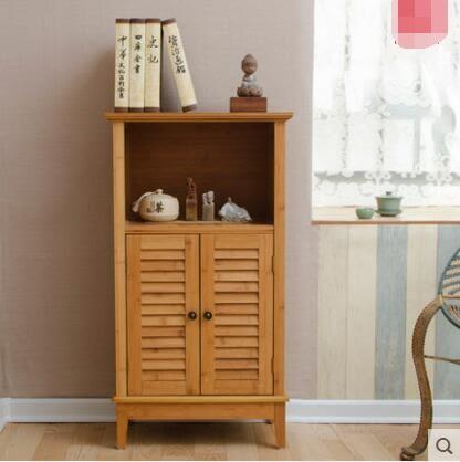 唯妮美實木櫃子田園書櫃簡易置物櫃落地儲物櫃現代角櫃收納櫃