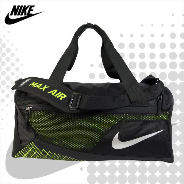NIKE 旅行袋 VAPOR MAX AIR 黑色 / 螢光黃 三用多功能側背包 BA5478-010 MyBag得意時袋
