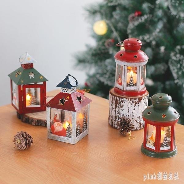 聖誕節裝飾復古燭臺聖誕擺件櫥窗裝飾場景布置聖誕裝飾掛件小禮物 qf33365【pink領袖衣社】