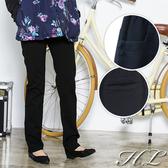 .HL超大尺碼.【19051035】簡約曲線釦飾口袋修身長褲 1色