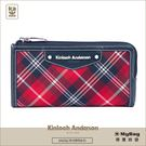 Kinloch Anderson 金安德森 皮夾 英式學院 經典拉鍊手掛長夾 紅/藍 KA151216NYF MyBag得意時袋