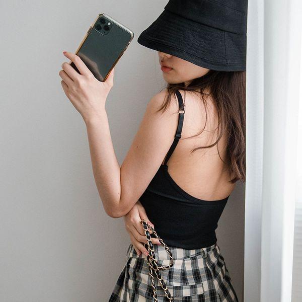 MIUSTAR 必備!加長版可調式肩帶大U美背一體成型罩杯小可愛(共6色)【NH1592】預購