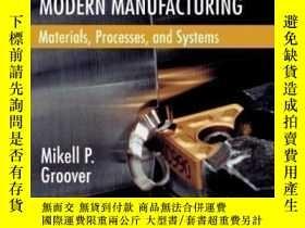 二手書博民逛書店Fundamentals罕見Of Modern Manufacturing: Materials Processe