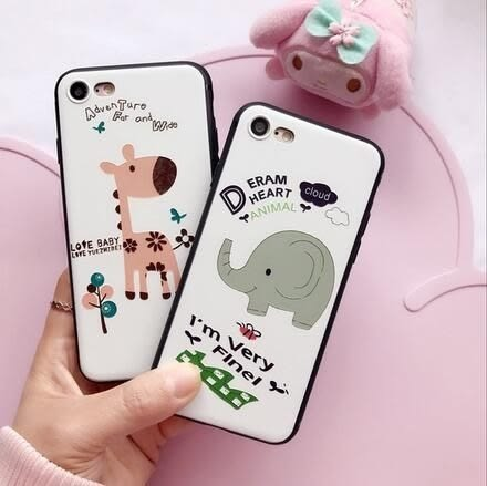 【SZ25】iPhone7/8 plus手機殼 卡通大象小鹿浮雕 iPhone 7/8  6plus iphone 6s 手機殼
