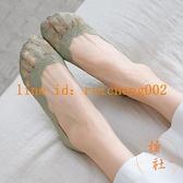 7雙裝 船襪女淺口純棉蕾絲硅膠防滑不掉跟隱形夏季薄款襪子【橘社小鎮】