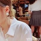 流蘇耳環s925銀針耳環女歐美風時尚夸張水鉆流蘇長款吊墜耳環高端氣質耳飾 衣間