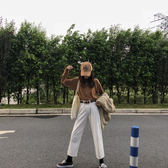 打底衫 港風ins長袖t恤女初秋內搭打底衫韓版學生寬鬆百搭慵懶風chic上衣 歐歐