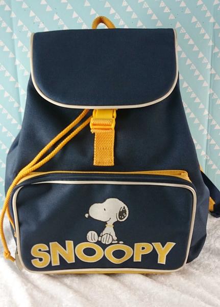 【震撼精品百貨】史奴比Peanuts Snoopy ~後背包_黃藍_日本製