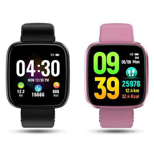 Ergotech 人因科技 MWB230 防水防塵 心律智慧監測 運動手環 智能手環 智慧手錶 黑色/粉紅色