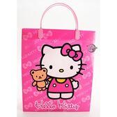三麗鷗凱蒂貓 Hello Kitty A4 PP壓紋手提袋 (粉紅色) 禮物包裝