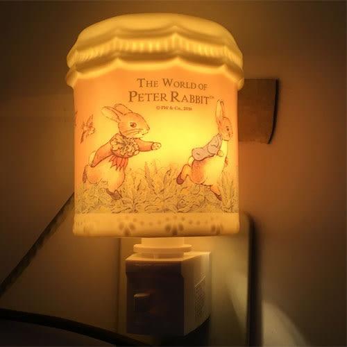 彼得兔LED床頭小夜燈精油燈黃立兔粉奔跑105346通販屋