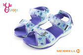 MERRELL 涼鞋 大童 足弓型 水陸兩棲戶外多功能涼鞋I6729#水藍◆OSOME奧森鞋業