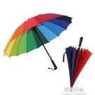 長柄傘雨傘長柄男女長傘直柄雨傘定制logo廣告傘印字照片定做黑膠傘 NMS陽光好物