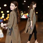 風衣 2020秋季新款外套韓版過膝七分袖收腰寬鬆顯瘦長款
