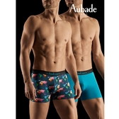Aubade man-舒棉M-XL平口褲(世界2件組)