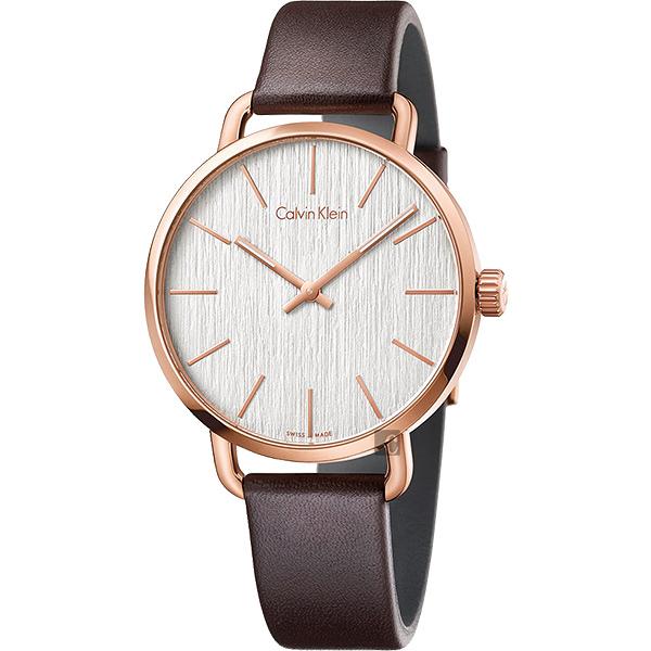 Calvin Klein CK Even 超然木質時尚手錶-銀/42mm K7B216G6