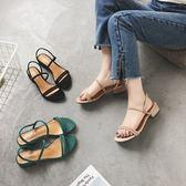 凉鞋 夏季韓版一鞋兩穿女式涼鞋拖鞋一字帶沙灘鞋露趾涼拖鞋女-炫科技