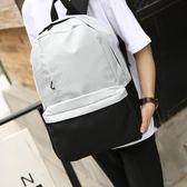 男女大學生書包純色簡約背包
