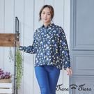 【UFUFU GIRL】純棉寬版長袖襯衫,古典花繪經典美型!