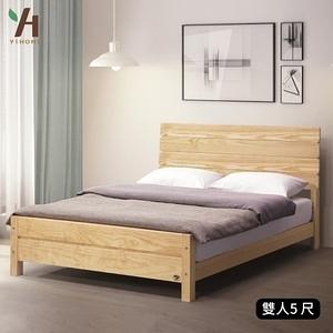 【伊本家居】威爾 實木床架 雙人5尺單一規格