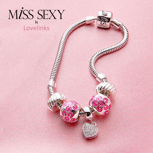 【Lovelinks】LS079 / 光彩綻放串珠手環 - 四件特惠組(串飾三個+手鍊一條,不含固定扣)