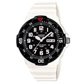 【CASIO】潛水設計運動指針錶-白X黑(MRW-200HC-7B)