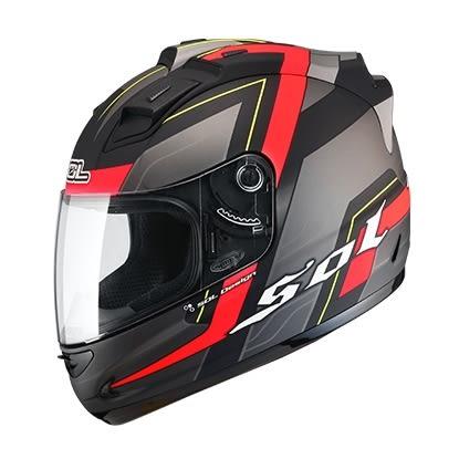 [東門城] SOL 68S 無限 消光黑/螢光紅 全罩式安全帽