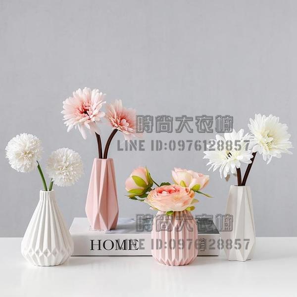 北歐仿真植物花藝小盆栽室內家居擺件客廳辦公桌裝飾假花創意【時尚大衣櫥】