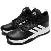 adidas 籃球鞋 Cloudfoam CF Ilation 2.0 K 黑 白 高筒 基本款 女鞋 大童鞋【PUMP306】 DB1465