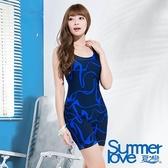 【夏之戀SUMMERLOVE】加大碼連身四角泳衣-加大碼(E15793)