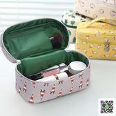 大容量新款便攜韓國化妝袋簡約化妝品收納包盒小號化妝箱手提 玫瑰女孩