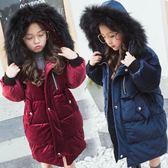 童裝冬季中大童男女童加厚韓國外套中長公主款羽絨棉棉服 概念3C旗艦店