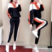 休閒運動服女2020秋季新款寬鬆潮牌洋氣學生寬鬆時尚兩件套女韓版 韓慕精品
