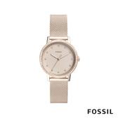 FOSSIL NEELY 華麗風範晶鑽女錶-米蘭流沙金 34mm