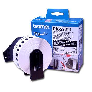 brother DK-22214 12mm耐久型紙質標籤紙(QL500/550/570/650/1050專用)