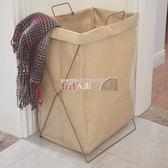 收納箱棉麻臟衣籃 折疊收納箱桶大號防水洗衣籃臟衣服收納筐玩具儲物箱 數碼人生
